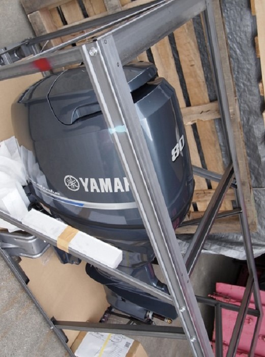 FREE SHIPPING FOR USED YAMAHA 80 HP 4 STROKE OUTBOARD MOTOR