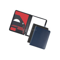 leather file folder with flap / fashion leather suspension file folder / popular creative advertising leather file folder