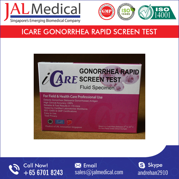 Widely Used Superior Quality iCARE Gonorrhea Rapid Screen Test Kit for Pharma Industry