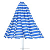 The Best Quality Acrylic Sun Beach Umbrella White&Blue