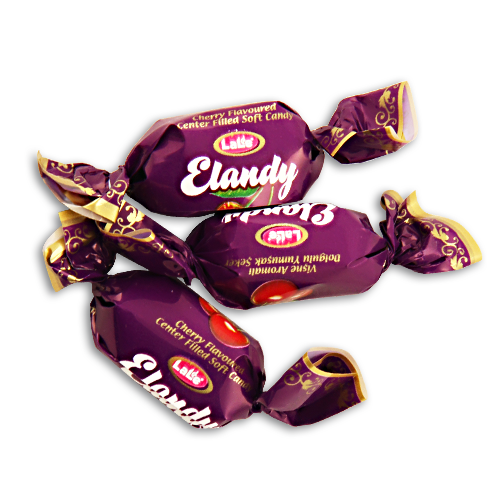 CHOCOLATE CACAO CENTER FILLED CHEWY CANDY SIMILAR TO ELVAN TOFFIX