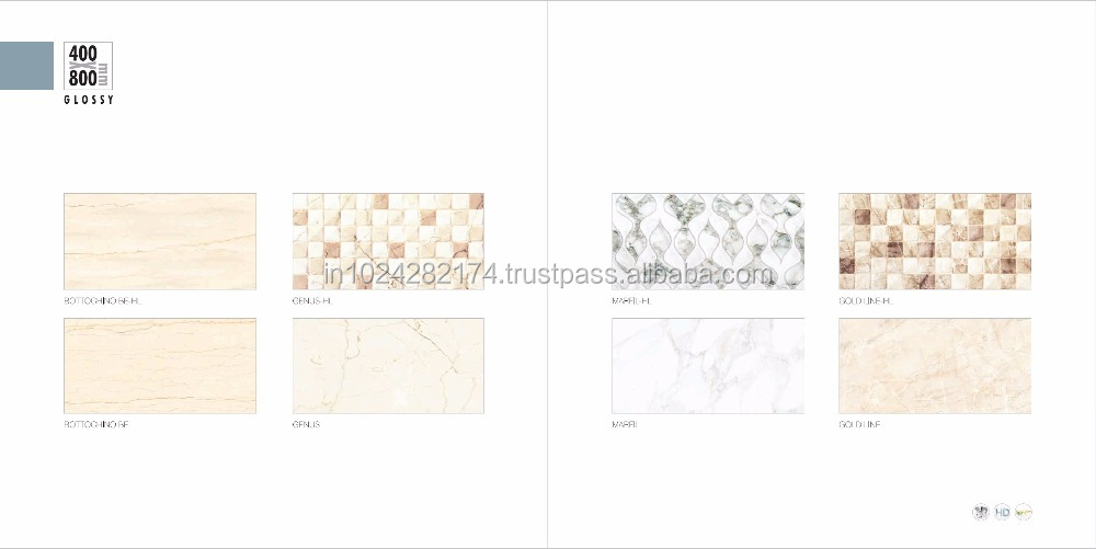 Building material best selling ceramic wall tile for kithchen bathroom AAA grade 400x800mm MARFIL