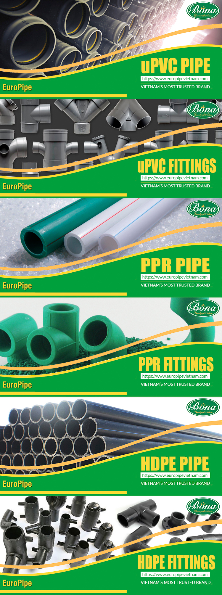 200mm PVC pipe uPVC Pipe hot sale Europe PN6