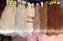 "2017 EKKO blonde #60a color hair warm flow chart new version Russian hair in bulk natural remy hair 29"" 200g"