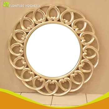 Vintage furniture home wall hand made decorative wall wood carved mirror frame
