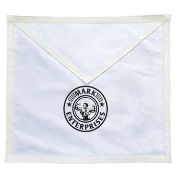White Masonic Candidate Entered Apprentice Apron