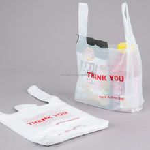 Manufacturer compostable T-shirt customized shopping bag