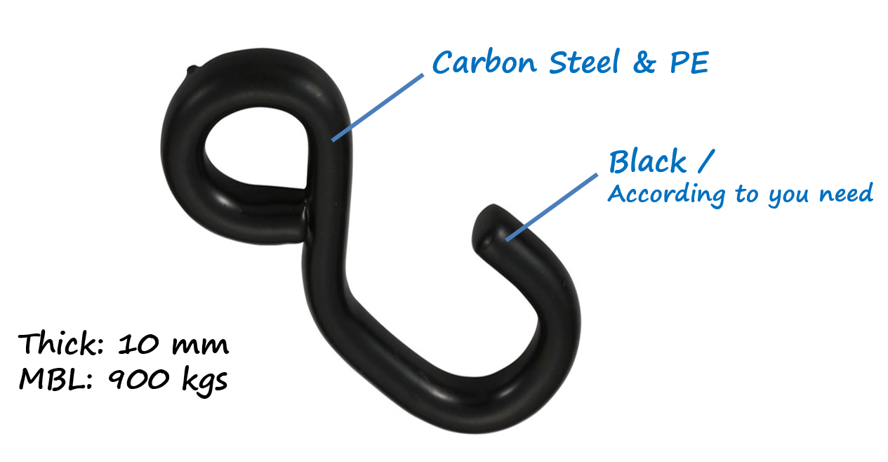 tow strap carbon steel bulk heavy duty S hook
