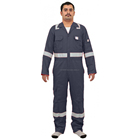 COVERALL, Flame Retardant With Reflective Tape, 240 GSM 100% Cotto, Pre Shrunk ISO CE Approved EN Approved