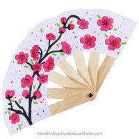 Chinese New Year Paper Fan Pack of 5 - Spring Flower - DIY Decorative Popsicle Sticks - Kids Craft Educational Toys