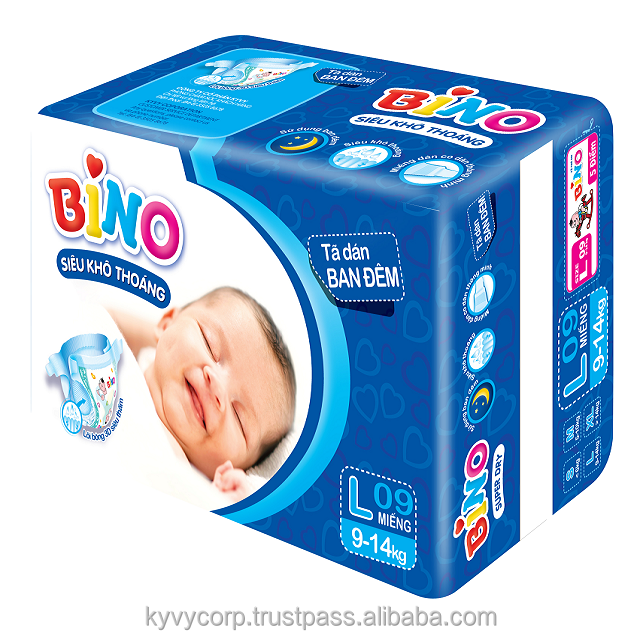 Super soft and ventilated BINO NIGHTTIME baby diaper from KY VY Corporation
