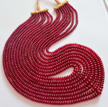 AAA quality smooth plain rondell shape precious stone ruby gemstone