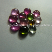 Mix Color Tourmaline 7mm round cabochons
