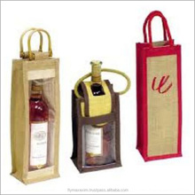 Holiday Gift Bags 3 Bottle Wine Carry bag Jute Eco- Friendly Wine Tote Bag