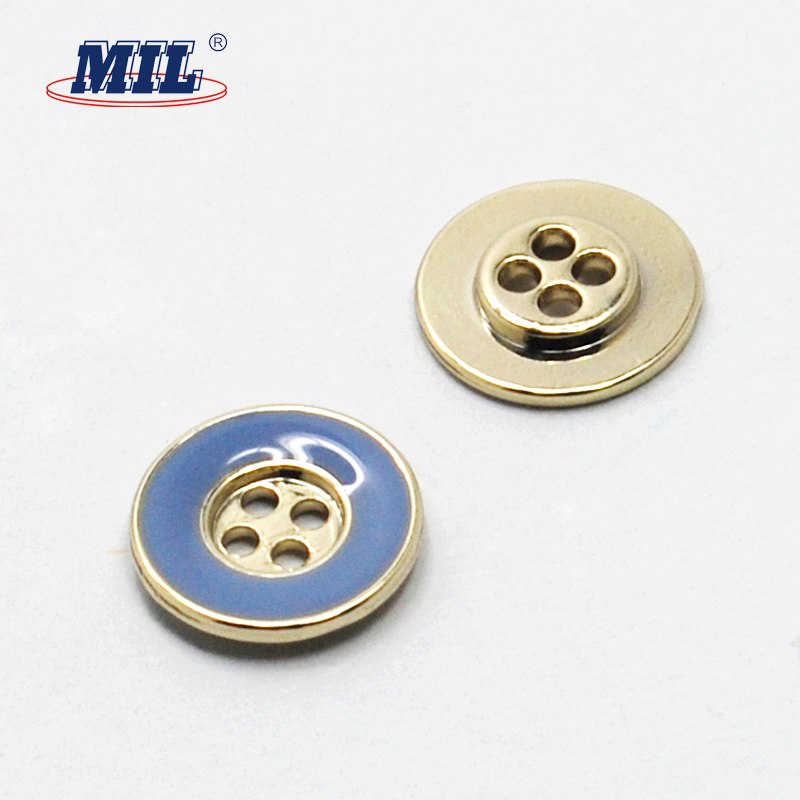 Colorful fancy replacement metal shirt buttons