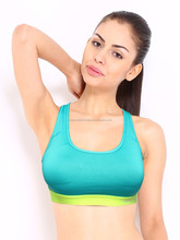 Top selling customise 100 % cotton sports bra