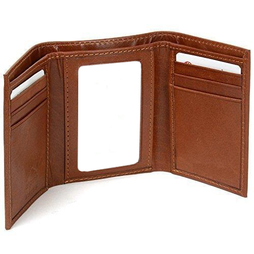 Fashionable tri-fold pu leather mens wallets / Smart mens wallets / Cool wallets for men in leather