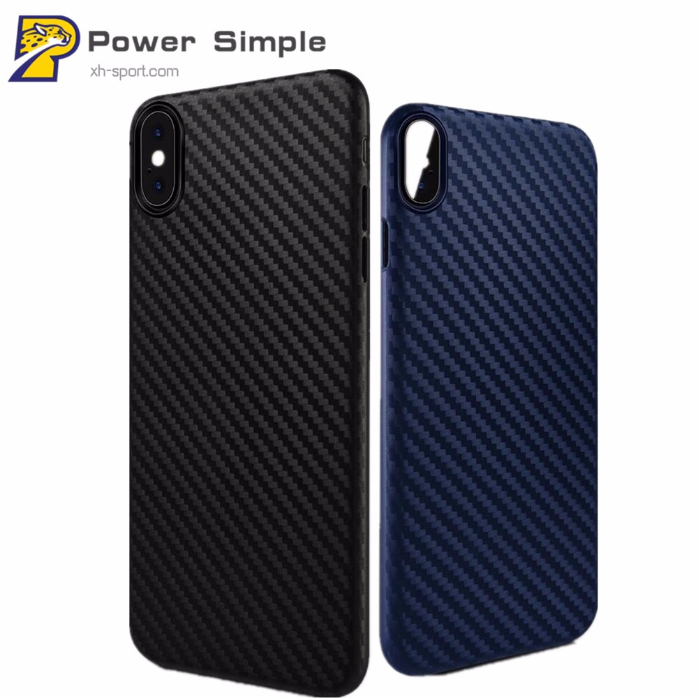 Brand Carbon Fiber Design Slim Back Case For iPhone X / For iPhone 7 / 7 Plus Fashion Cases Dirt-Proof Phone Cover
