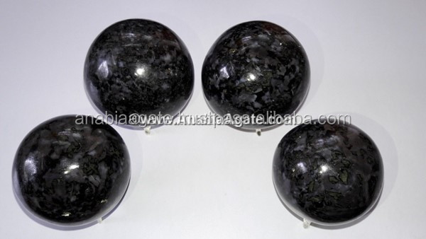 Black Tourmaline Quartz Crystal Gemstone Ball / Gemstone Sphere for sale