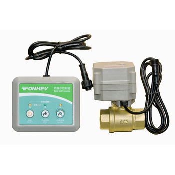 "Hot!DN20 3/4"" water leak system detector detection with brass motorized valve"