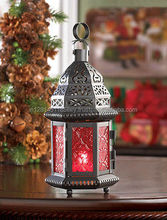 Cheap moroccan lantern/ colorfull glass/candle lantern