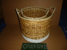 Spraying color water hyacinth food basket durable wicker bread basket high quality rattan flower basket easy moving