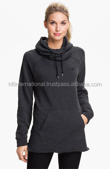 Wholesale women 100%cotton casual style hoodie