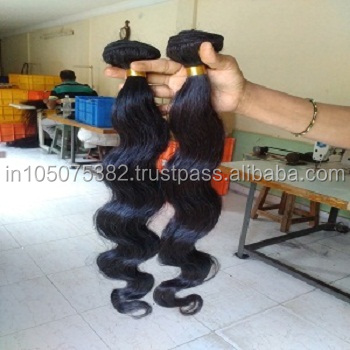 unprocessed Indian body wave hair from India for factory prices