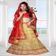 designer hand work and net zari work lace border lehenga lacha choli designs