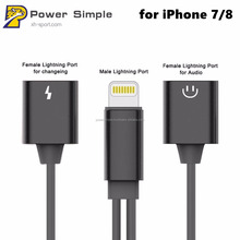 2 in 1 Charging Cable to 3.5mm Headphone Jack Adapter for iPhone 7/ 7Plus, for Lightning Cable