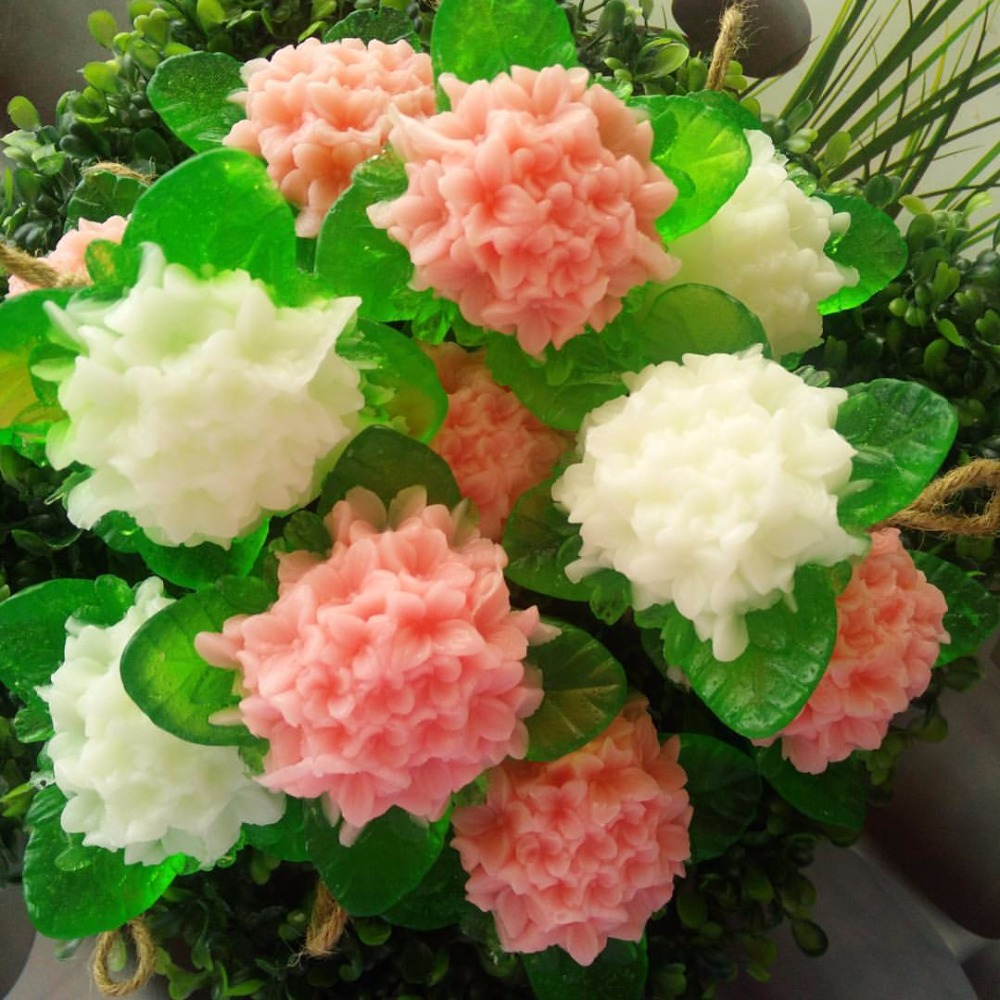 Flower Shape Soap Size 120 -140 g