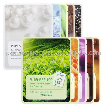 [Tony Moly] Pureness 100 Mask sheet snail, propolis, collagen, caviar, pearl, shea butter, placento, red gingseng etc TONYMOLY