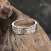 Handmade Gold Jewelry 18k White Gold Diamond Engagement Band Ring For Women's