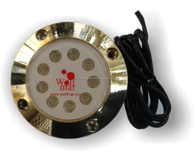 40W Underwater Boat Led Light 4500LM Bronze Case