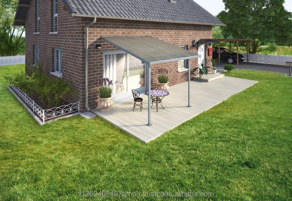 PALRAM Feria patio cover 3X3.05 meter Grey - Clear