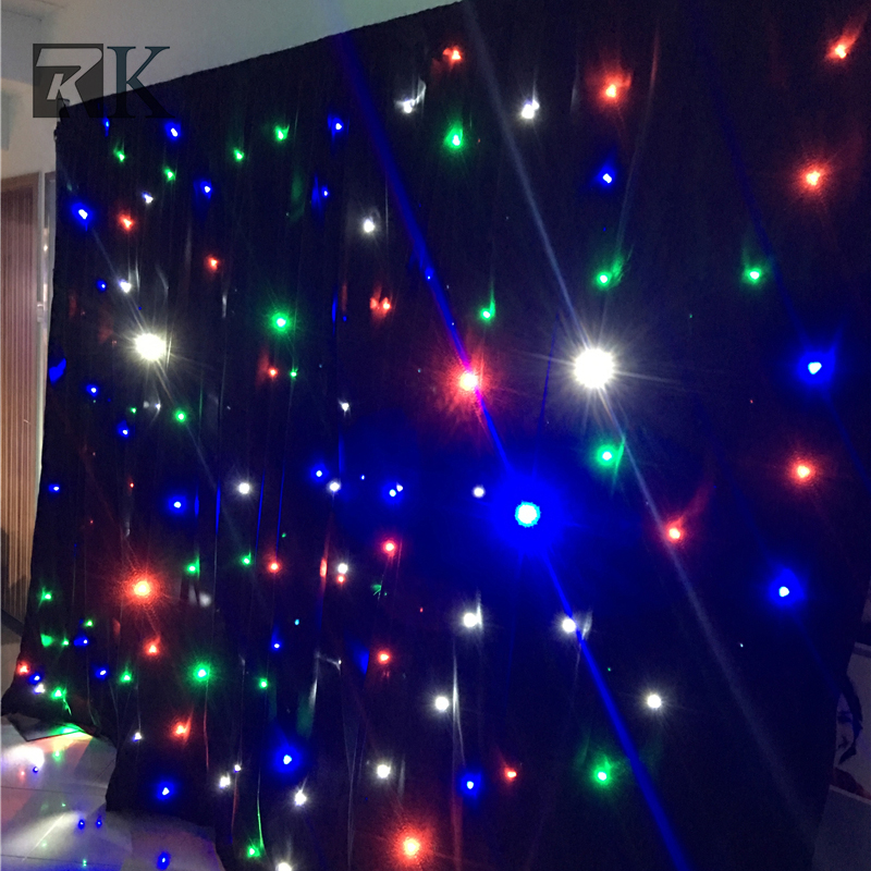 wedding decoration led lights star curtain pipe and drape wall backdrop