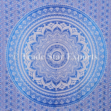 Indian Mandala Tapestry Cotton fabric Ombre Bedsheet Bedding Throw Bedspread Tapestries