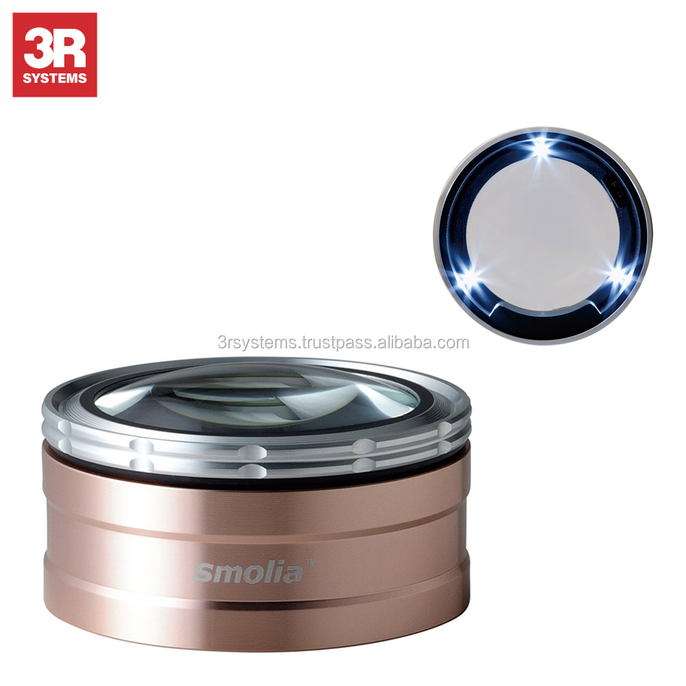 Easy to handle and smart design zoom magnifying glass , use with photo frames wood , USB rechargeable battery
