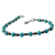 Sky blue turquoise beaded gemstone 925 sterling silver bracelet Indian silver jewelry wholesale silver bracelets exporters