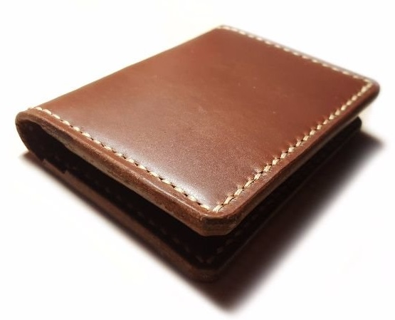 Handmade small wallet full grain leather card holder wallet