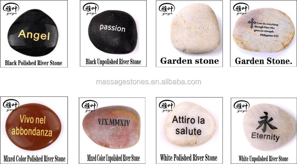 Engraved Inspirational Stones Polished River Stone