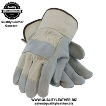 9/10/11/12 inch natural color labor working gloves for sale
