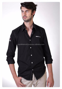 Black, Kirbiyik, Special Design, Dress shirt Slim fit shirt, slim-fit shirt, Dress shirt, Shirt, men shirt,