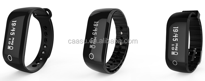 Top Sale Waterproof Sport Bluetooth Heart Rate Bracelet With Call Message Social Media Notification