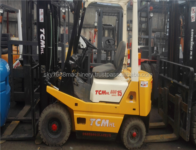 used tcm forklift 1.5t/tcm secondhand 1.5t with good condition/ cheap price made in japan