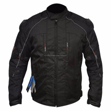 Men cordura Motorcycle Armoured black textile Jacket CE approved bike adventure