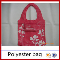 For Promotion Factory Wholesale Cheap 190T 210D Printed Custom Reusable Nylon Polyester Bag Foldable Shopping Bag
