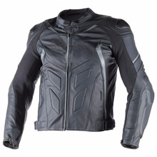 BLACK AND RED MOTOR BIKE RACING LEATHER JACKET