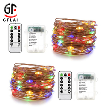 China Suppliers Holiday Lighting Battery Operated <strong>RGB</strong> Christmas Led Outdoor String Lights With Remote Control