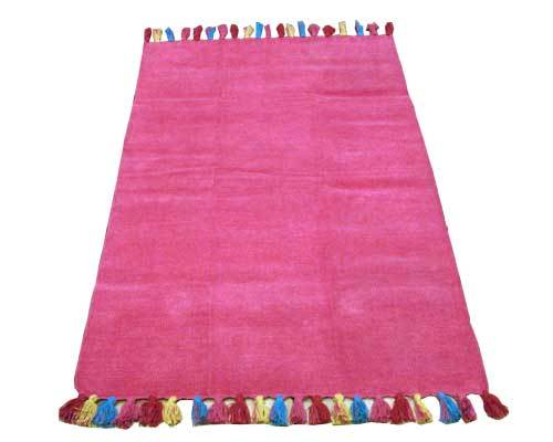 elegant solid colors cotton chennile dhurrie rugs